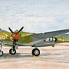 Lockheed lightening P-38 J Thoughts of Midnite by Dave Black