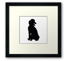 Poodle Silhouette Framed Print