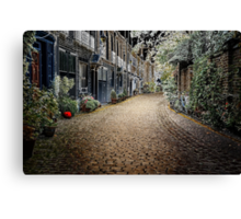 Unusual look at London through the contours Canvas Print