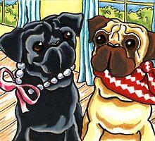 Pugs Girl Meets Boy by offleashart