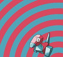 Pokemon - Porygon Circles iPad Case by Aaron Campbell