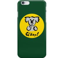 """Koala """"G'day!"""" iPhone Case/Skin"""