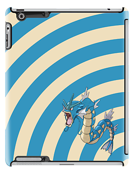 Pokemon - Gyrados Circles iPad Case by Aaron Campbell