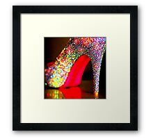 Glam Heels Framed Print