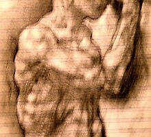 figure drawn from imagination by Ronald Eschner
