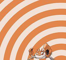 Pokemon - Kingler Circles iPad Case by Aaron Campbell