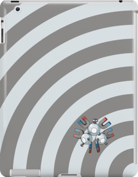 Pokemon - Magneton Circles iPad Case by Aaron Campbell