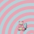 Pokemon - Slowbro Circles iPad Case by Aaron Campbell