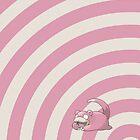 Pokemon - Slowpoke Circles iPad Case by Aaron Campbell