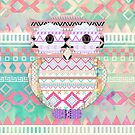 Whimsical Tribal Owl Pastel Girly Tie Dye Aztec by GirlyTrend