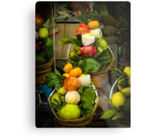 Fruit and Veg Display Metal Print