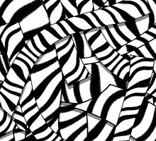 Modern Abstract Black White Zebra Stripes Pattern by GirlyTrend