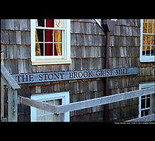 Historic Grist Mill Building Detail - Stony Brook, New York  by © Sophie W. Smith