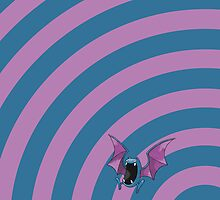 Pokemon - Golbat Circles iPad Case by Aaron Campbell