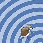 Pokemon - Blastoise Circles iPad Case by Aaron Campbell