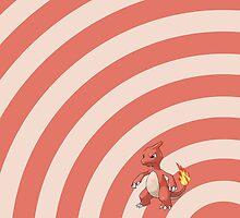 Pokemon - Charmeleon Circles iPad Case by Aaron Campbell
