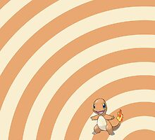 Pokemon - Charmander Circles iPad Case by Aaron Campbell