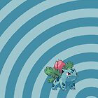 Pokemon - Ivysaur Circles iPad Case by Aaron Campbell