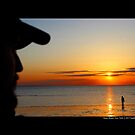 Men Watching West Meadow Beach Sunset - Stony Brook, New York  by © Sophie Smith