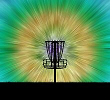 Tie Dye Disc Golf Basket by perkinsdesigns