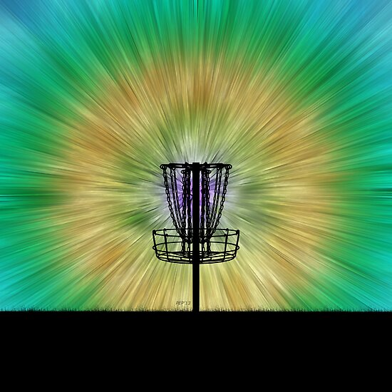 Tie Dye Disc Golf Basket by Phil Perkins
