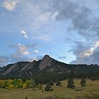 Boulder Colorado Flatirons View by Nina Brandin