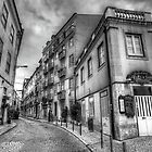 Backstreets Of Lisbon BW by manateevoyager