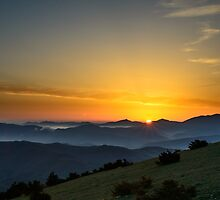 Sunrise, Monte Subasio, Umbria, Italy by Andrew Jones