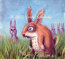 Return of the Killer Pink Bunny Rabbits by © Cindy Schnackel