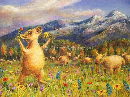 Ovine Joy by © Cindy Schnackel