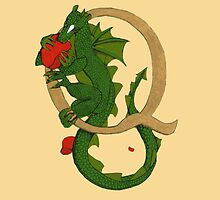 "Oscar and the Roses ""Q -Tail"" (Illustrated Alphabet) by Donna Huntriss"