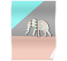 Tribal Elephant  Poster