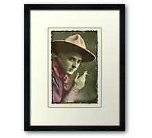 Vintage Cowboy Illustration Framed Print