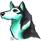 Brush Breeds-Siberian Husky by Alexa H.J.