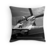 Lady P51D Throw Pillow