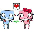Robots in Love by SushiKitteh&#x27;s Creations