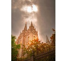 Heaven Shining Down on the Temple Photographic Print