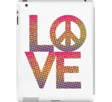 LOVE Peace Color Halftone iPad Case/Skin