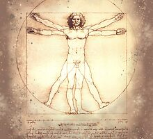Leonardo da Vinci Vitruvian Man, 1490 by dangerpowers123