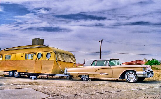 1950s T-Bird and Trailer by matthewbam