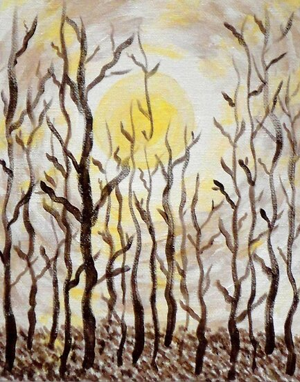 Sun and Trees by Valerie Howell