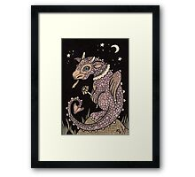 Pinky Puff Dragon Framed Print