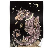 Pinky Puff Dragon Poster