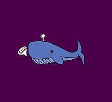 """""""I ♥ ♥ ♥ humans"""" Whale Print by Goat !"""