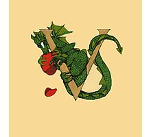 """Oscar and the Roses """"V"""" (Illustrated Alphabet) Photographic Print"""