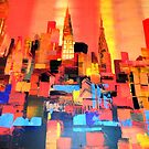 Manhattan Cityscape Skyline Piainting 0191 by Eraclis Aristidou