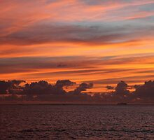 Sunrise Over a Coral Cay by Saraswati-she