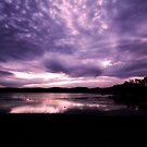 Merimbula Lake Dusk Reflections No. 3 by Erin Davis