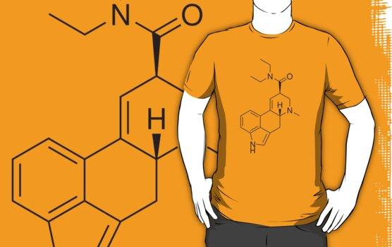 LSD molecule shirt by flashman