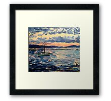 Vermont Sail Boats  Framed Print